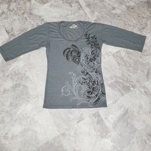 Erge Gray Super Soft Shirt with 3/4 Sleeve
